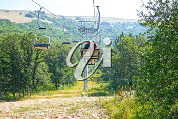 Royalty Free Photo of a Ropeway in Jermuk, Armania