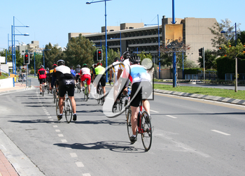 Royalty Free Photo of Cyclists on the Road