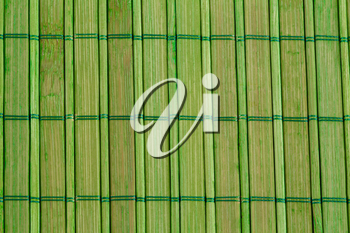Bamboo placemat texture for background, close-up image.