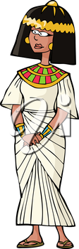 Ancient Egyptian woman on white background vector illustration