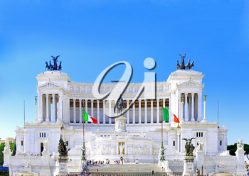 Venice Square in Rome, and the Monument of Victor Emmanuel . Italy