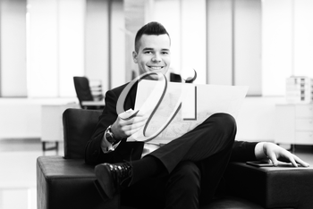 Businessman Writing A Letter - Notes Or Correspondence Or Signing A Document Or Agreement