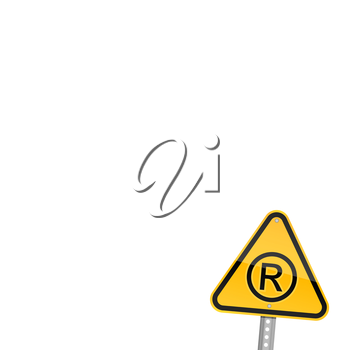 Royalty Free Clipart Image of a Registered Sign