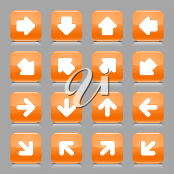 Royalty Free Clipart Image of a Set of Arrow Buttons