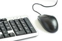 Royalty Free Photo of a Keyboard and Mouse
