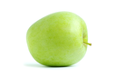 fresh green apple isolated on a white
