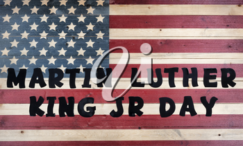 Martin Luther King JR Day background with large text wording