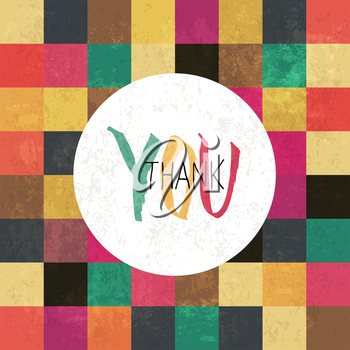 Thank you! On colorful aged tiles pattern. Grunge layers can be easy editable or removed.
