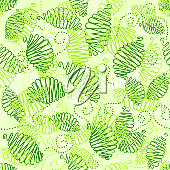 Cute floral seamless pattern in vintage style
