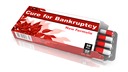 Cure for Bankruptcy, Red Open Blister Pack of Pills Isolated on White.