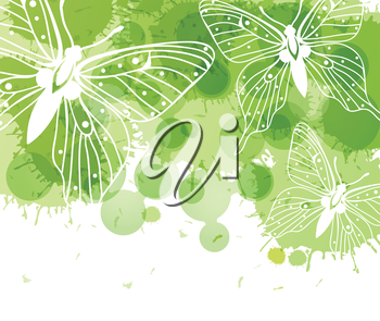 Royalty Free Clipart Image of a Butterfly Background
