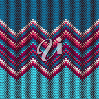 Royalty Free Clipart Image of a Knit Pattern