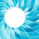 Round speech bubble. Abstract white round shape. Digital blue color background.