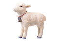 Small little lamb figurine isolated on White