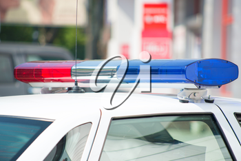 Royalty Free Photo Image of Police Lights