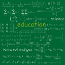 Royalty Free Clipart Image of Words on a Chalkboard