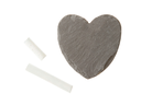 Heart shaped piece of slate over white