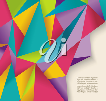 Abstract geometric background with poygonal 3D shapes.  Vector illustration.