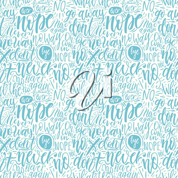 Hand lettering doodle seamless pattern with words of protest. Can be used for postcard, poster, print, greeting card, t-shirt, phone case design. Vector illustration
