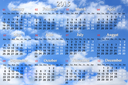 office calendar for 2015 year on the background of sky with clouds