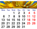 office calendar for 2015 year with big yellow sunflower