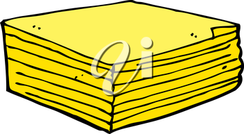 Royalty Free Clipart Image of a Stack of Cheese