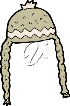 Royalty Free Clipart Image of a Winter Hat