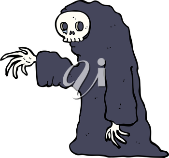 Royalty Free Clipart Image of a Ghoul