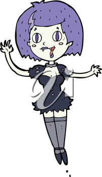 Royalty Free Clipart Image of a Vampire Girl