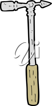 Royalty Free Clipart Image of a Pin Hammer