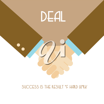 Handshake vector illustration, deal flat design