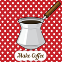 Royalty Free Clipart Image of a Coffee Pot