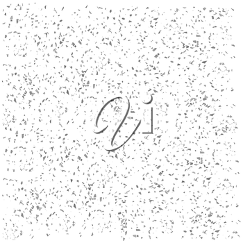 Gray Parts of Confetti Isolated on White Background