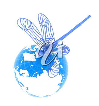 Dragonfly on earth