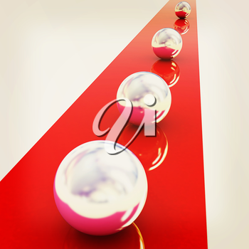 the concept of motion . 3D illustration. Vintage style.