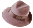 Classic brown man's hat fedora, isolated on white