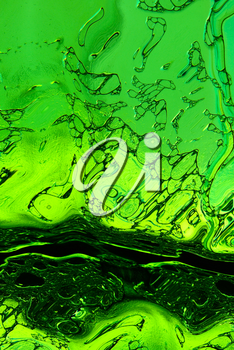 Stylized green foaming texture as abstract background.Digitally generated image.