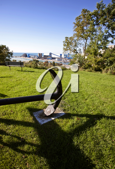 Anchor Goderich Ontario symbol overlooking harbour