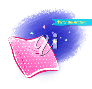 Pillow. Vector illustration. Isolated.