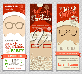 Vector Christmas vertical templates. There is place for your text.