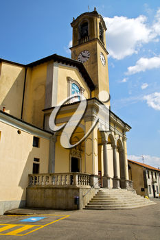 parking church albizzate varese italy the old wall terrace  bell tower