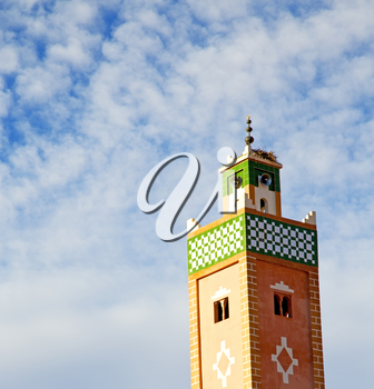 mosque muslim     the history  symbol  in morocco  africa  minaret   religion and  blue    sky