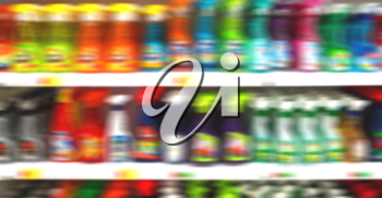 in iran abstract supermarket blurred like lifestale concept and consumer products