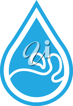 Simple flat color water icon vector