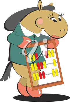 Royalty Free Clipart Image of an Accountant Horse