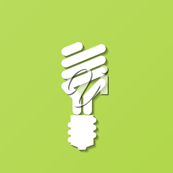 Abstract paper Energy-Saving Light Bulb. Vector illustration