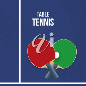 Two rackets for playing table tennis. Vector illustration