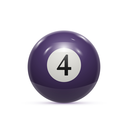 Billiard four ball isolated on a white background vector illustration