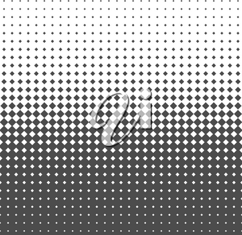 Fade gradient pattern. Gradient seamless background. Gradient halftone texture. Vector illustration