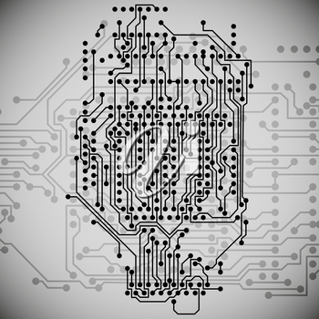 Microchip background, electronics circuit, EPS10 vector illustration.